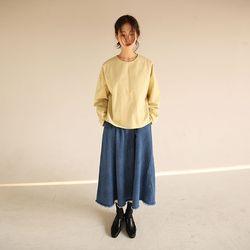 must denim flare skirt (2color)