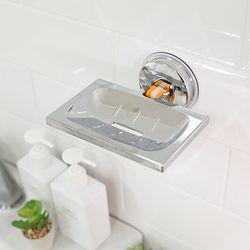 욕실인테리어 무타공 벽부착 2중 진공흡착 비누거치대