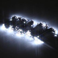 LED300구 연결형검정선 (백색) 크리스마스 트리장식 조명천지