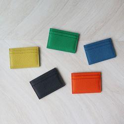 심플 소가죽 카드 지갑