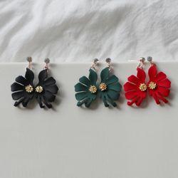 비비드 꽃잎 귀걸이