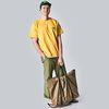 30L Travel Bag KHAKI (NAVY POCKET)