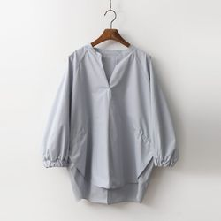 Volume Shirring Shirts - 9부소매