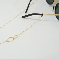 Link shape glasses chain