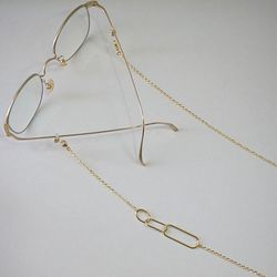Link oval shape glasses chain