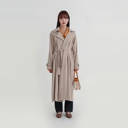 molly soft long trench coat (2colors)