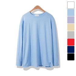 워싱 슬라브 긴팔 티셔츠 TSL111