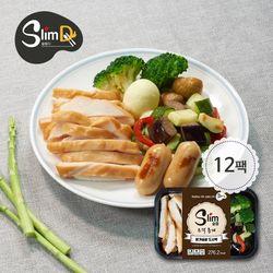 [슬림디] 슬림 조각훈제 닭가슴살 도시락 12팩