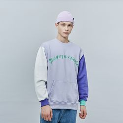 COLOR EMBO SWEAT SHIRT LAVENDER