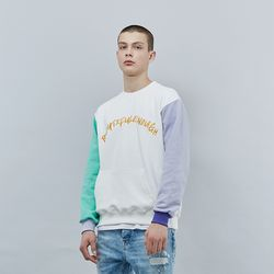 COLOR EMBO SWEAT SHIRT IVORY
