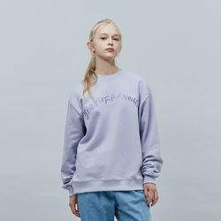 COLOR BALLOON SWEAT SHIRT LAVENDER