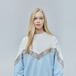 V-SCOTCH SWEAT SHIRT SKYBLUE