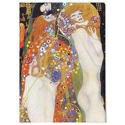 중형 패브릭 포스터 명화 누드 그림 유화 천 액자 클 림트 4