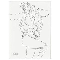 중형 패브릭 포스터 명화 드로잉 그림 천 아트 액자 클 림트 12