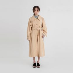 low collar trench coat (2colors)