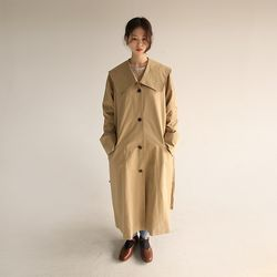 kawaii collar trench coat