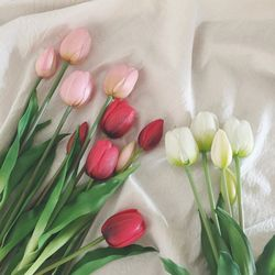 봄 인테리어 튤립 조화 (3컬러)