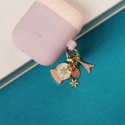 엘라고 에어팟/버즈 키링 - 핑크파리