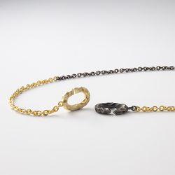 [ARETE] Black&Gold Clasp Design Necklace Ver.crater