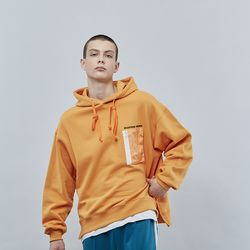 CRAYON POCKET HOODIE ORANGE