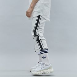 DOUBLE LINE SWEAT JOGGER PANTS WHITE