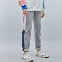 LINE SWEAT JOGGER PANTS GRAYPINK