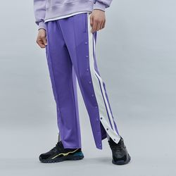 HALF BUTTON TRACK PANTS PURPLE