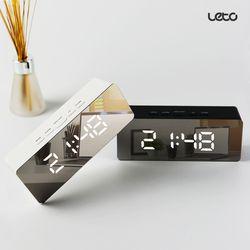 [무료배송] 거울 알람 LED 시계 탁상시계 온도계 LLC-P02 직각