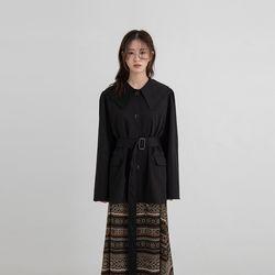 low collar midi trench coat (2colors)