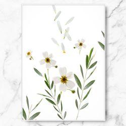 인테리어 그림 식물 포스터 비앙코 피오레 중형