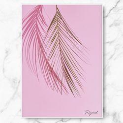 인테리어 그림 식물 포스터 핑크팜 중형