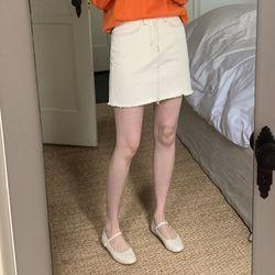 little cotton mini skirt (s m l)