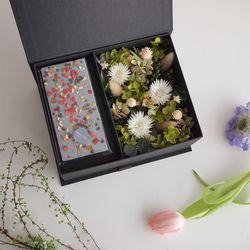 GREEN & GREEN FLOWER BOX - ONLY BOX