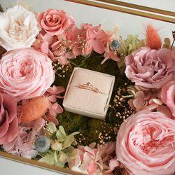 POSH GOLD FLOWER RING BOX - 싱글 링쿠션