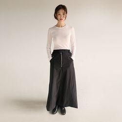 zipper belt skirt (3colors)