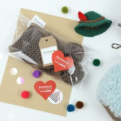핸드메이드 선물스티커 4종 (For Knitter Gift)