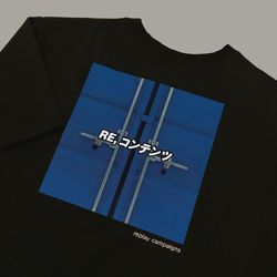 new black replay campaign 12 tee (cobalt blue)