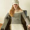 Julie Off Shoulder T Stripe