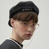 RC newsboy cap (black)