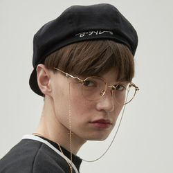 RC newsboy cap (black)