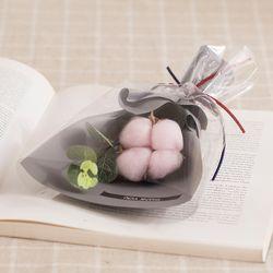 목화 한 송이 꽃다발(핑크)