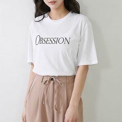 [로코식스] 큐큐 라운드 티셔츠