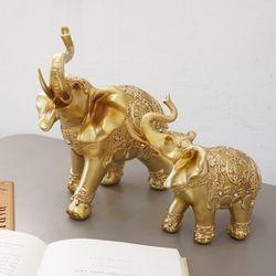 골드 큐빅 코끼리 2p set