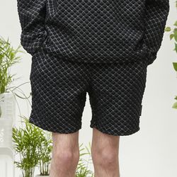 dia pattern shorts (black)
