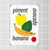 유니크 디자인 포스터 M 피망 아보카도 바나나 과일 A3(중형)