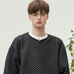 dia pattern knit (black)