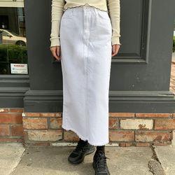 steady cotton midi skirt (s m)