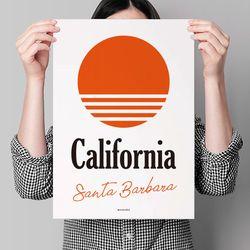 유니크 디자인 포스터 M 캘리포니아 산타바바라 A3(중형)