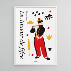 유니크 디자인 포스터 M 피리부는 소년 마네 그림 A3(중형)