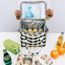 엔비 체크 특대보냉가방 캠핑가방 아이스박스 바캉스